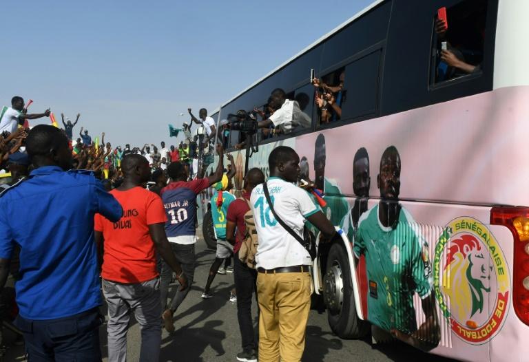 Les joueurs du Sénégal acclamés par une foule immense pour leur retour à Dakar, le 20 juillet 2019