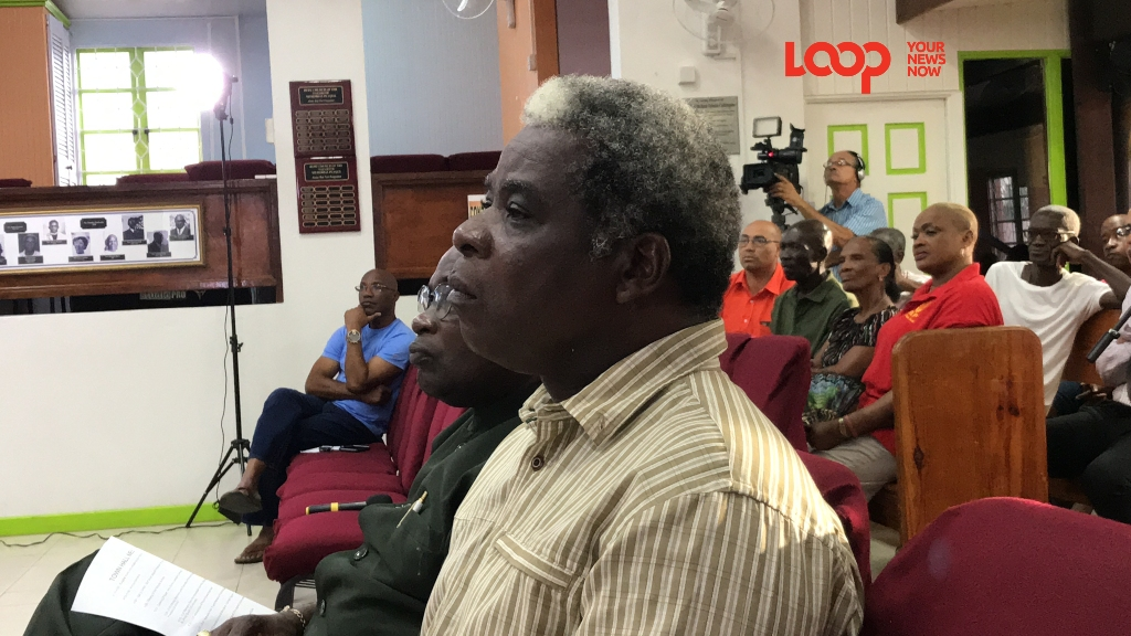Attendees at the Town Hall meeting organised by the St. Philip South Branch of the BLP and the MP Indar Weir.