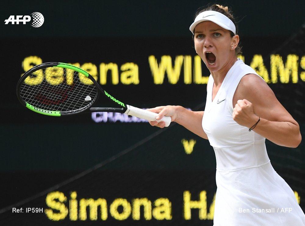 La Roumaine Simone Halep remporte son premier titre à Wimbledon le 13 juillet 2019