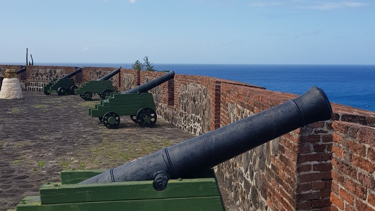 Fort Oranje in St Eustatius from where an 11 gun salute was given recognising America as an independent nation. PHOTO Laura Dowrich-Phillips
