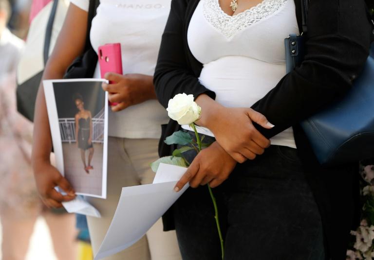 Rassemblement le 8 juillet 2019 à Saint-Denis en hommage à Leila, une femme enceinte tuée par son compagnon quelques jours auparavant