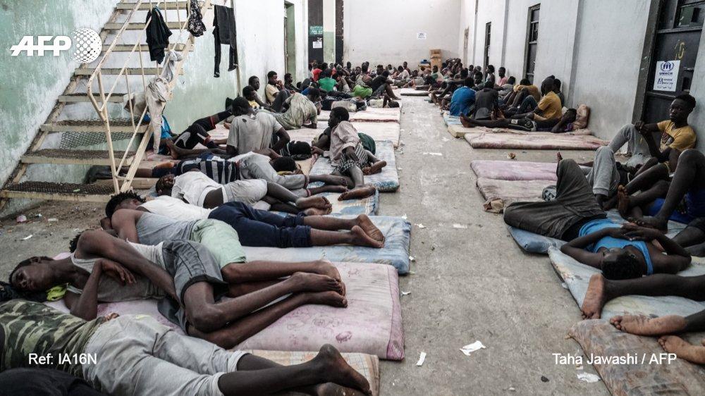 Dans un centre de détention pour migrants à Zewiyah (Ouest de Tripoli) le 17 juin 2017 AFP.com - Taha  Jawashi