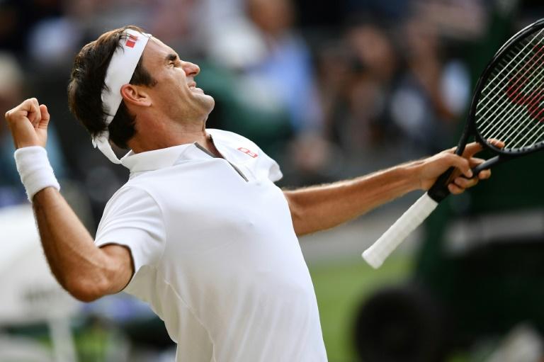 Roger Federer après sa victoire en demi-finale de Wimbledon contre Rafael Nadal, le 12 juillet 2019