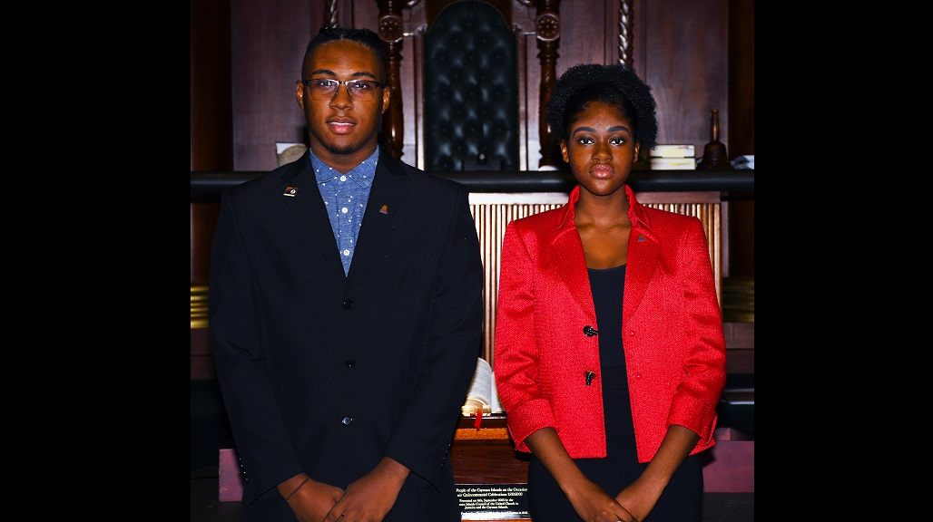 University College of the Cayman Islands students, Reon Porter and Leah Robinson are off to represent at the 15th Regional Youth Parliament.