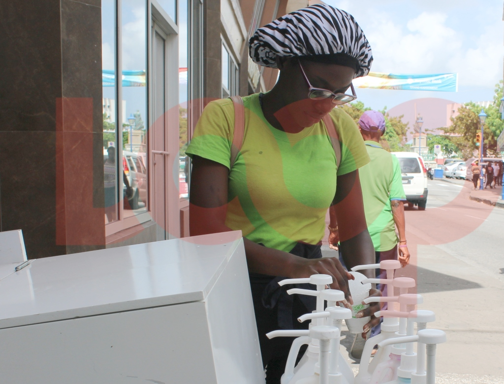 Adrielle Waithe - Sno-cone vendor on Broad Street.