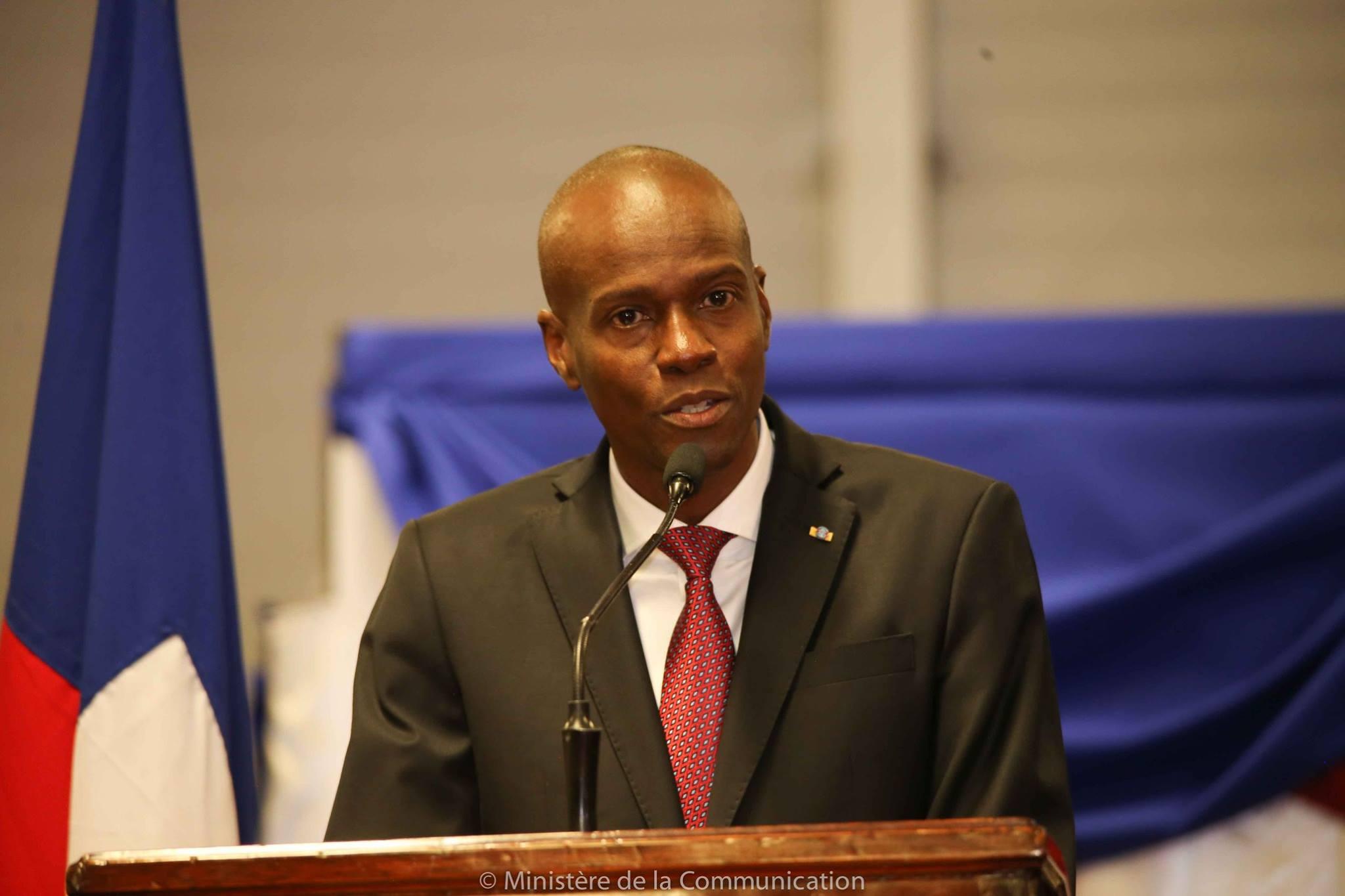 L'actuel président haïtien, Jovenel Moise