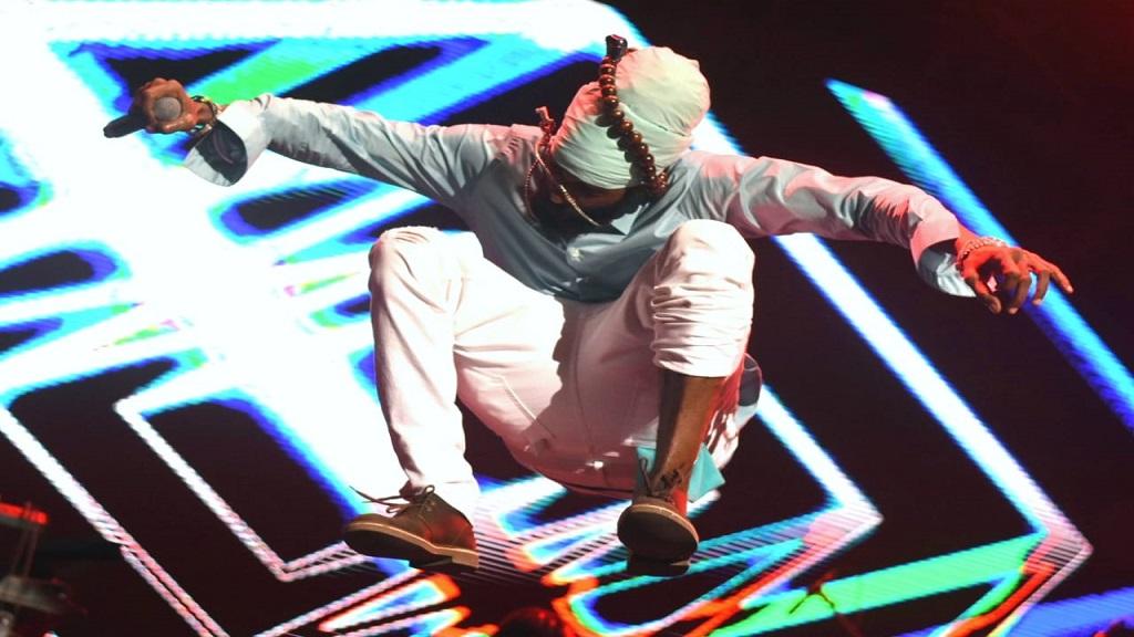 Spragga Benz performs on Festival Night One of Reggae Sumfest on Saturday morning. (PHOTOS: Marlon Reid)