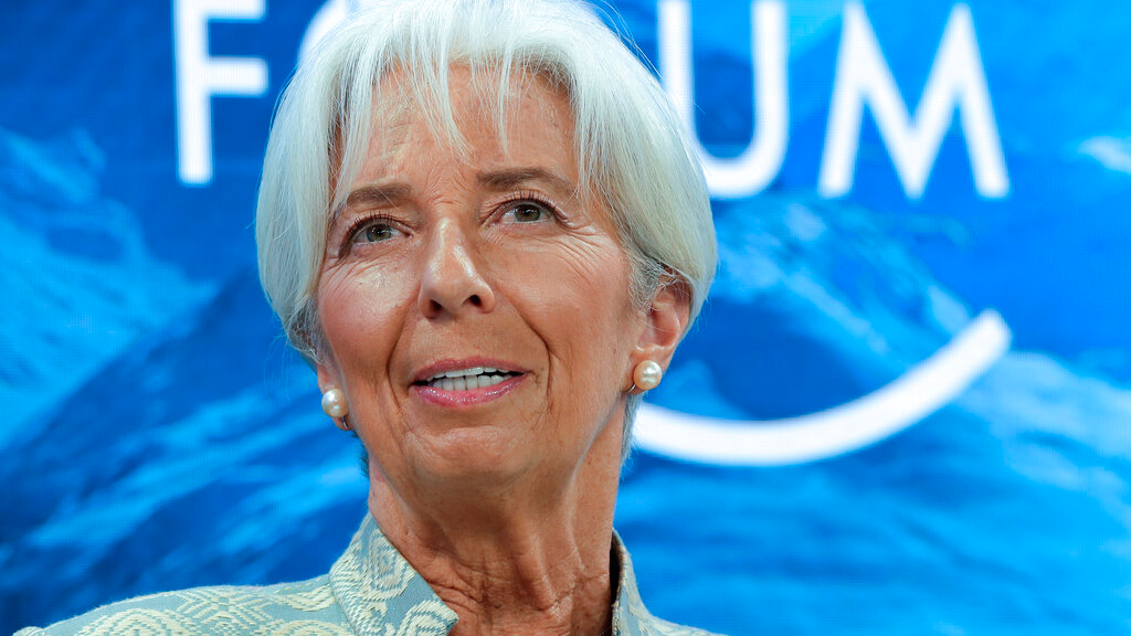 Photo dated Jan. 4, 2019: International Monetary Fund Managing Director Christine Lagarde, attends a session of the annual meeting of the World Economic Forum in Davos, Switzerland. European Union leaders on Tuesday, July 2, 2019, after a lengthy session of talks, have nominated Christine Lagarde as a candidate for the post of European Central Bank president. (AP Photo/Markus Schreiber, File)