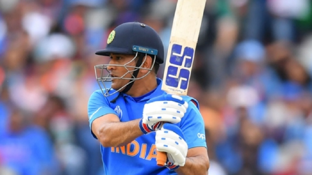 MS Dhoni in action for India during the World Cup.