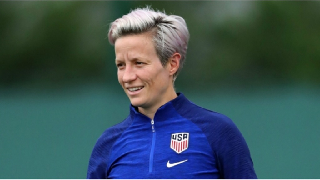 Megan Rapinoe during a training session.