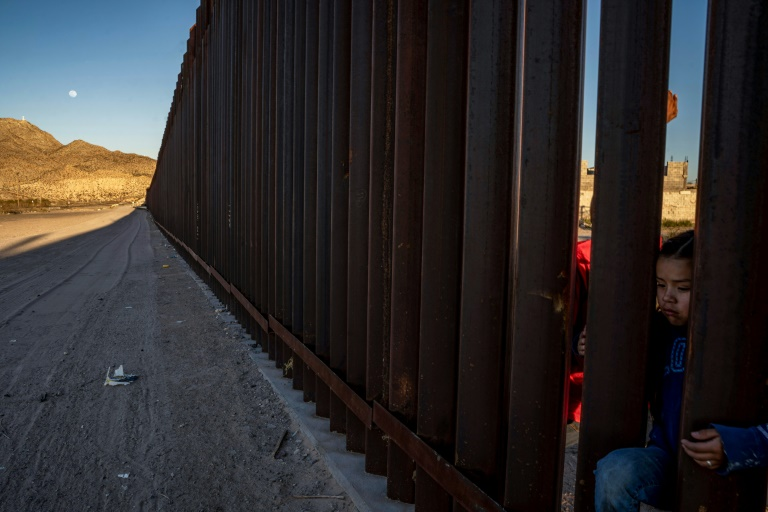 Le mur à la frontière avec le Mexique à Anapra, en mars 2019