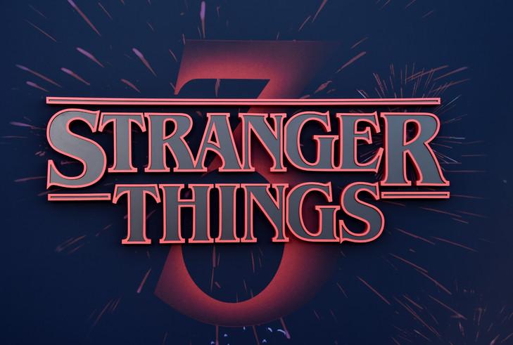 Le logo de Stranger Things pris en photo le 28 juin 2019 AFP/Archives