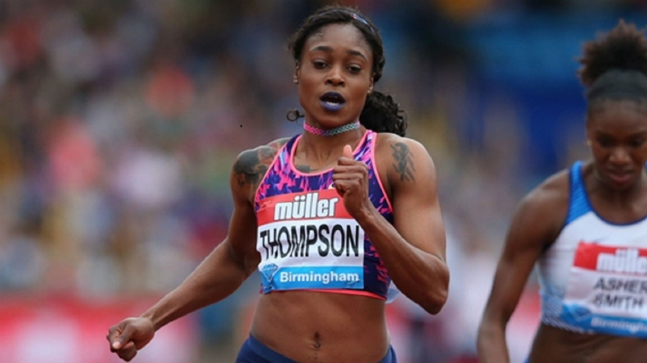 Jamaica's double Olympic champion Elaine Thompson.