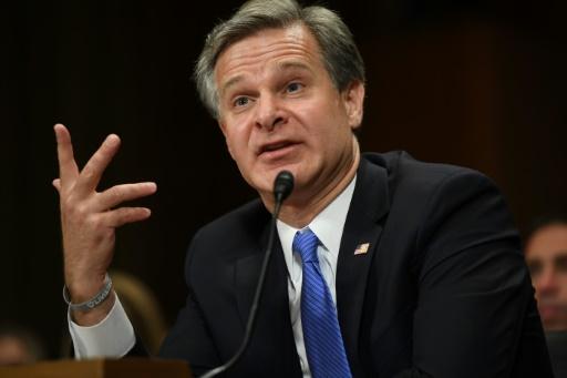 Le directeur du FBI Christopher Wray le 23 juillet au Sénat afp.com - Saul LOEB