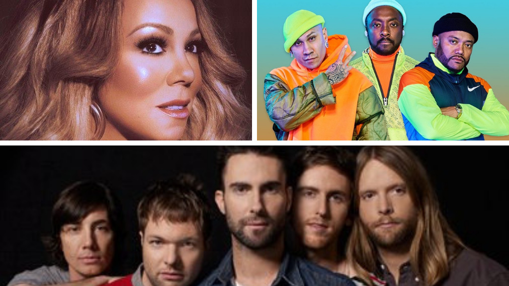Mariah Carey, the Black Eyed Peas and Maroon 5 are among the stars that will perform at this year's North Sea Jazz Festival in Curacao.