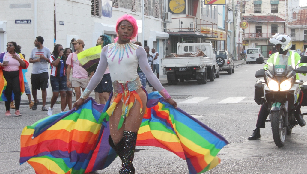 'Candy' was one of the front runners in the Pride parade.