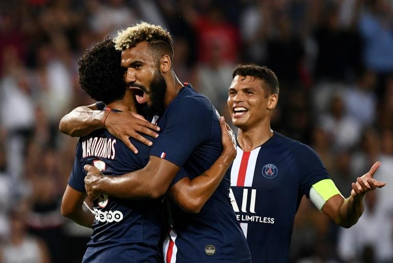 Le PSG de Marquinhos Choupo-Moting et Thiago Silva, vainqueur de Toulouse, le 25 aoîut 2019 à Paris, se retrouve dans le même groupe de C1 que le Real