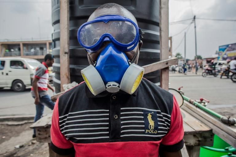 Protection obligatoire pour les équipes de lutte contre Ebola à Goma dans l'est de la République démocratique du Congo (RDC) le 31 juillet 2019