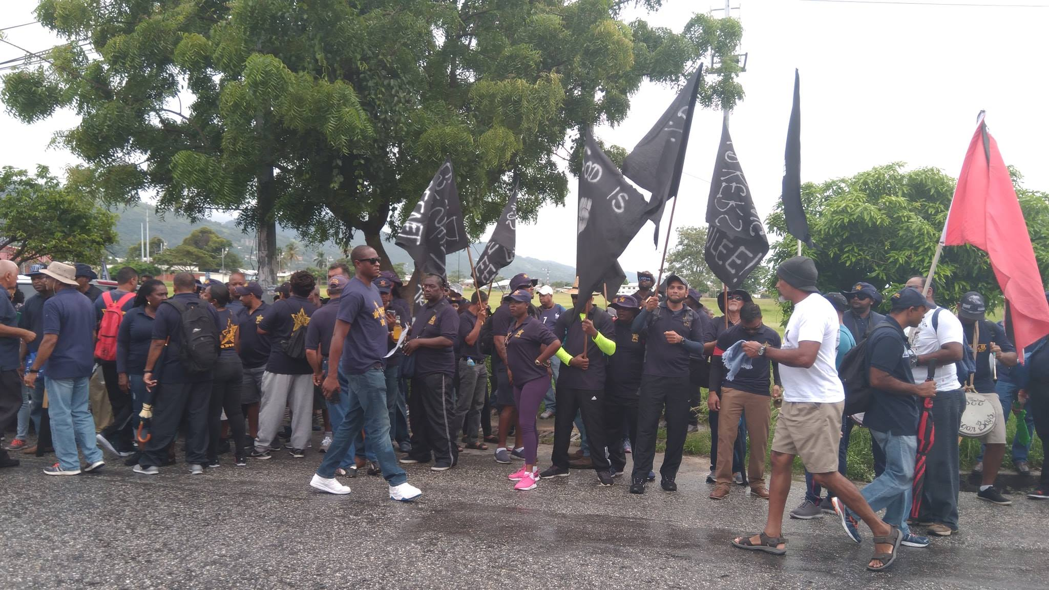 "Flashback: OWTU members protest at the ""Mother of all Marches""."