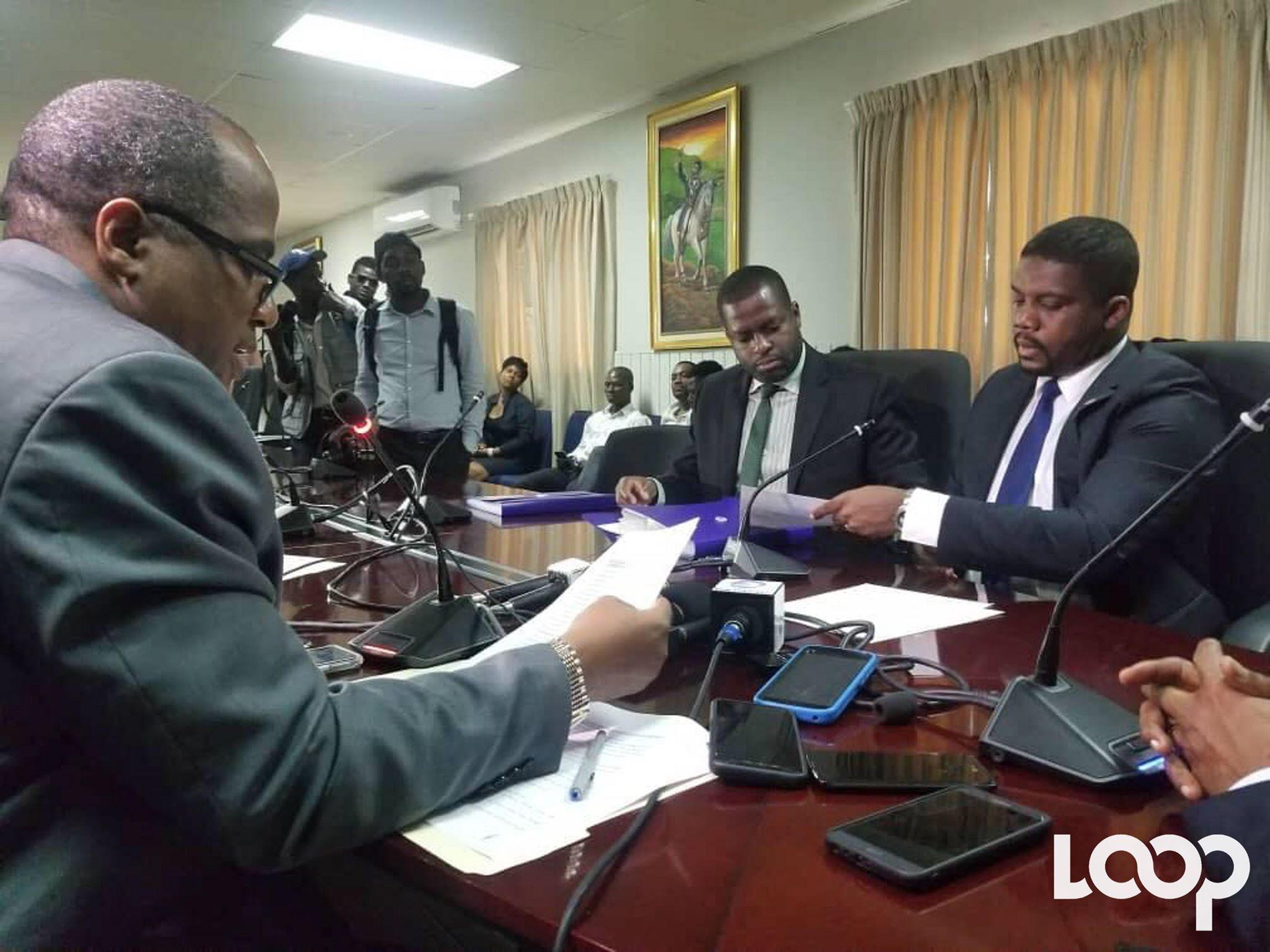 Le Premier ministre Fritz William Michel lors du dépôt de ses pièces à la Chambre basse/ Loop Haiti
