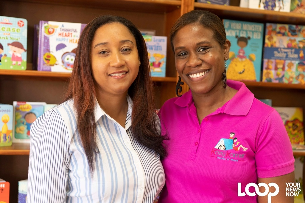 Farrah Cheuk (left) and Shapea Lazarus are owners of Kozy Korner Books N More, an independent local children's bookstore.