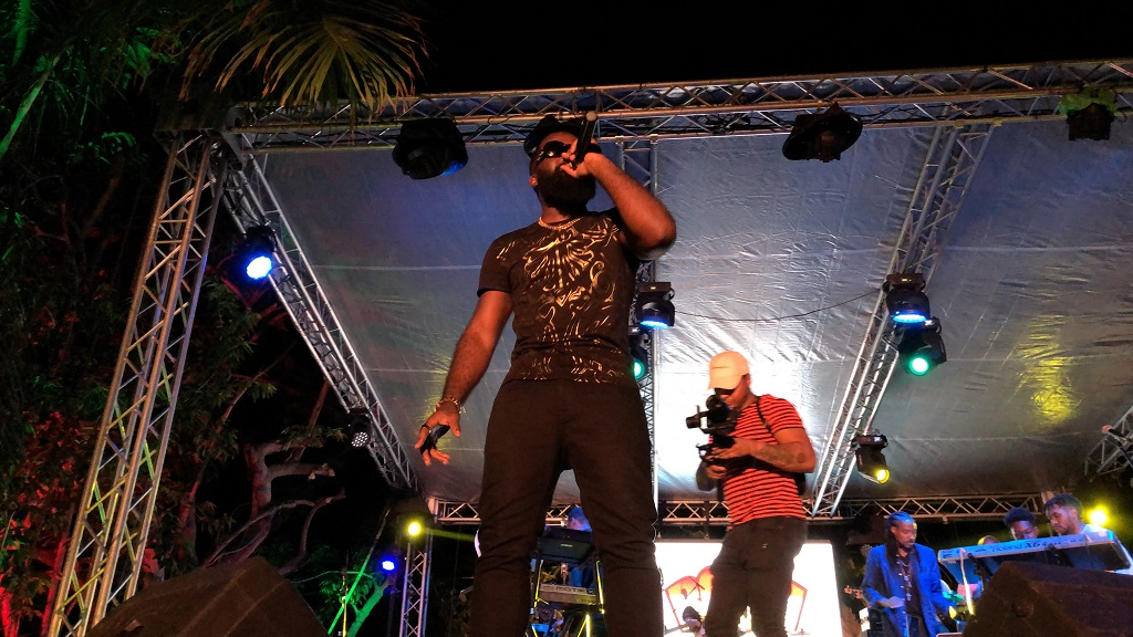 AfroB brought his West African energy to Jamaica for the first time at the I-Rise concert on Thursday.