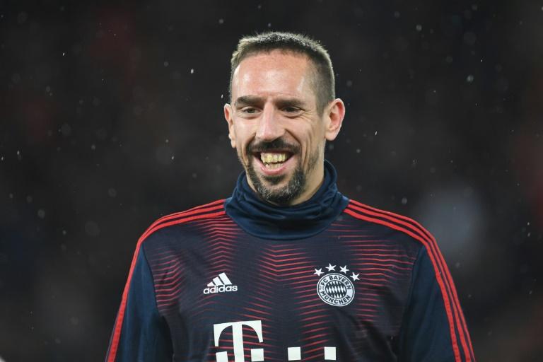 L'ex-milieu français du Bayern Munich, Franck Ribéry, avant le 8e de finale aller de la Ligue des champions à Liverpool, le 19 février 2019