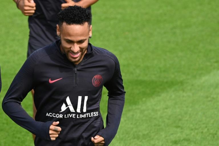 L'attaquant du PSG Neymar lors d'une séance d'entraînement, le 10 août 2019 à Saint-Germain-en-Laye