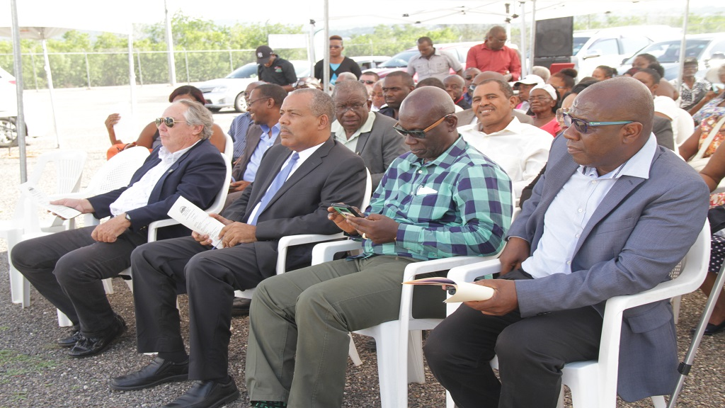 From left, Custos of Trelawny, Paul Muschett; President and Chief Executive Officer (CEO) of the Port Authority of Jamaica (PAJ), Professor Gordon Shirley; Local Government Minister, Desmond McKenzie; and Falmouth Mayor, Councillor Colin Gager, at the official opening of the Falmouth Market last year.