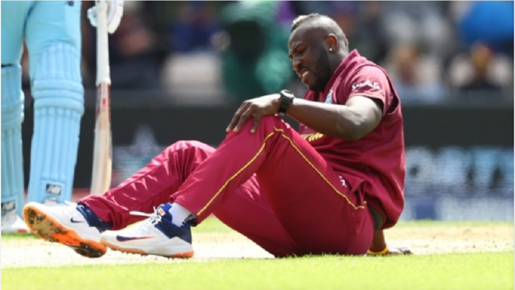 Andre Russell has been troubled by a sore knee.
