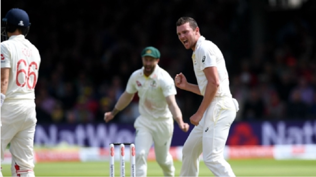 Josh Hazlewood dismissed England captain Joe Root on the second morning.