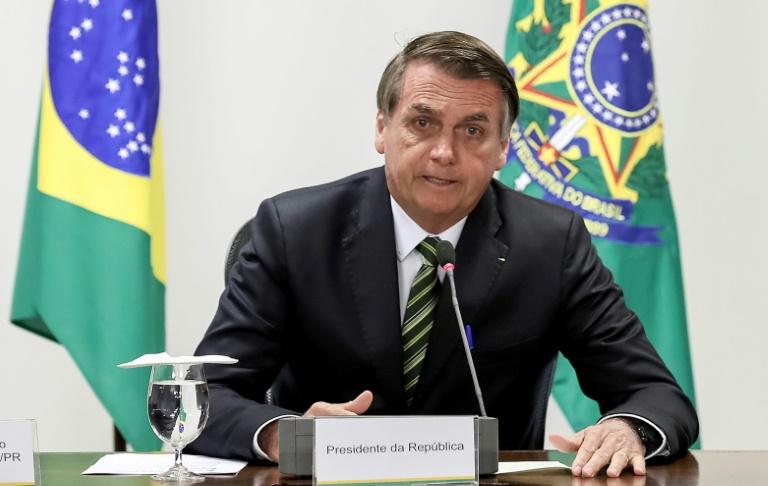Le président brésilien Jair Bolsonaro à Brasilia le 23 août 2019