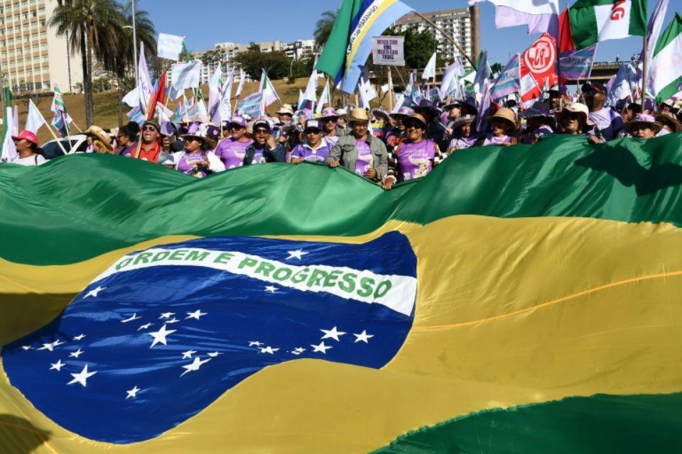 """Des femmes participent à la """"Marche des Marguerites"""" le 14 août 2019 à Brasilia afp.com - EVARISTO SA"""