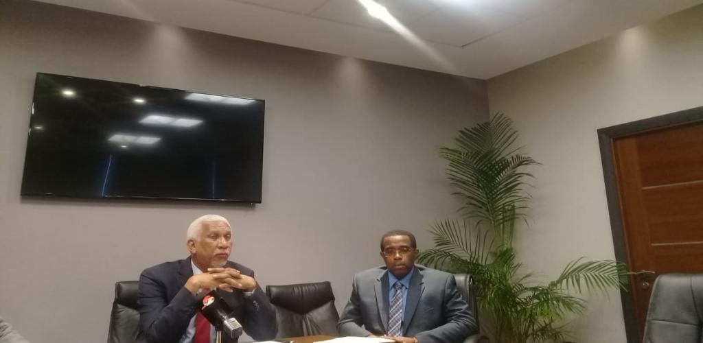 UDeCOTT Chairman Noel Garcia addresses media at press conference on Wednesday.