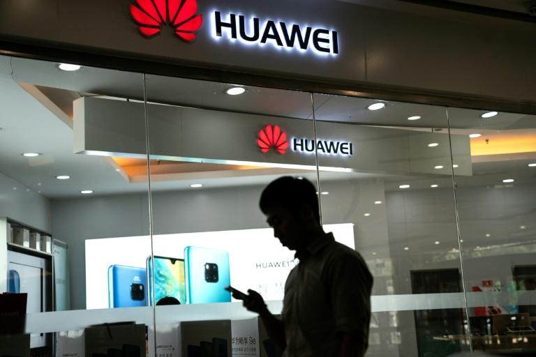 Une boutique Huawei, le 23 mai 2019 à Pékin