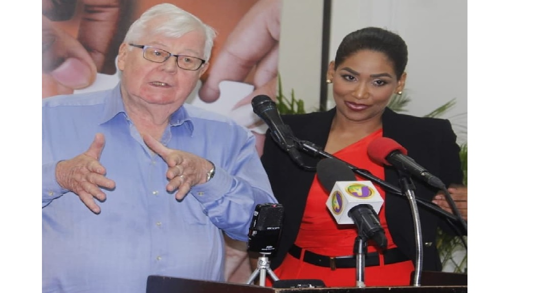 Pollster Bill Johnson with South East St Ann MP Lisa Hanna, who is supporting the campaign of Dr Peter Phillips in the PNP leadership race.