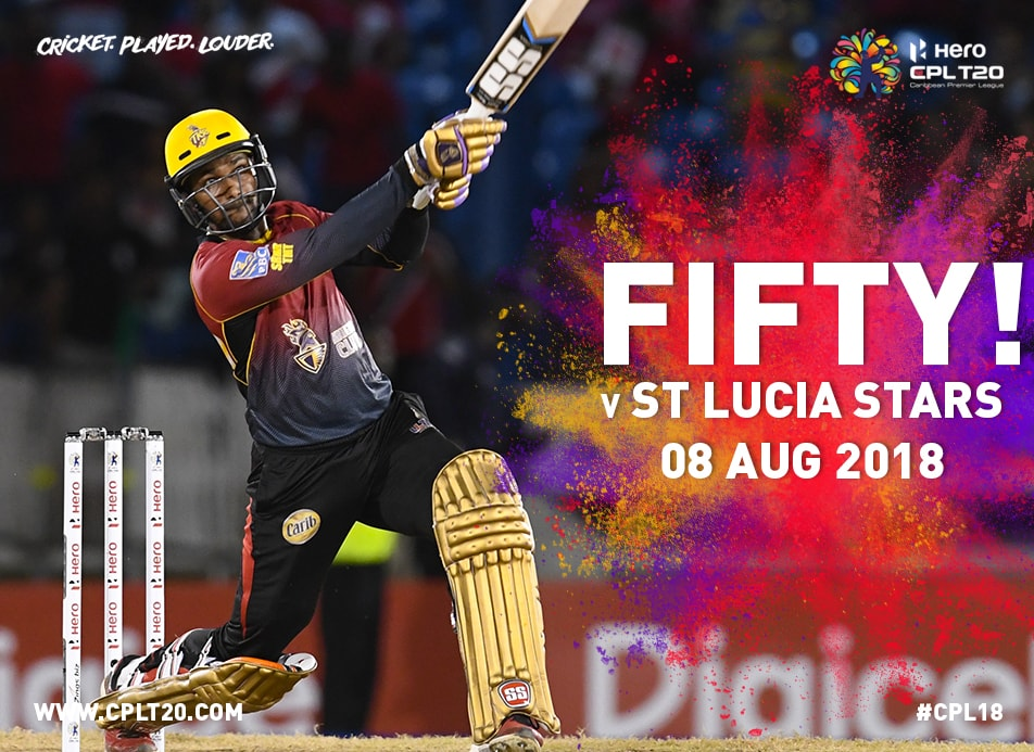 Ramdin hit 50 off only 27 balls in the Knight Riders win