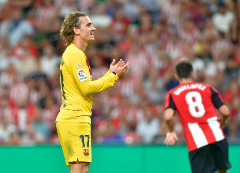 Le Français Antoine Griezmann débute son aventure barcelonaise en championnat par une défaite à Bilbao, vendredi 16 août.
