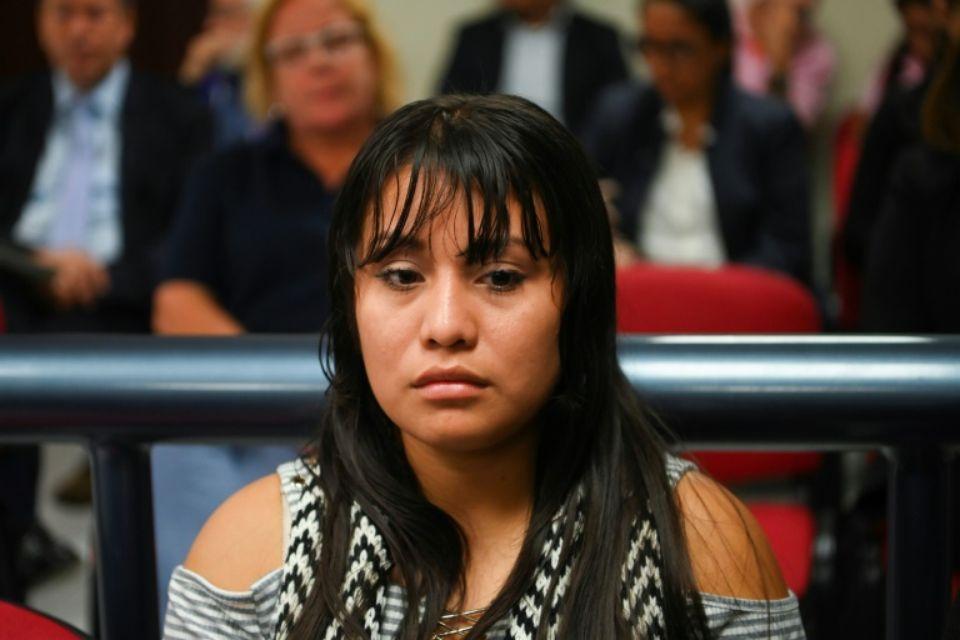Evelyn Hernandez, une jeune femme qui a perdu son bébé, à nouveau jugée pour homicide, à Ciudad Delgado, le 15 août 2019 au Salvador. afp.com - MARVIN RECINOS