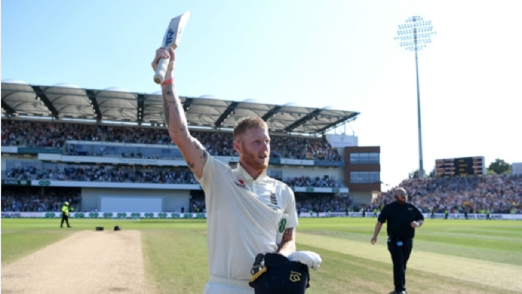 Ben Stokes celebrates England's win at Headingley.
