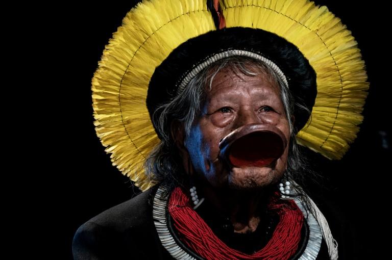 Le chef indigène Raoni Metuktire, le 29 mai 2019 à Lyon
