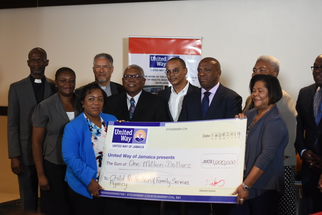 The entities made the pledges on Wednesday at United Way's launch of Jamaica National Children Home Restoration Fund, at the Jamaica Pegasus. (Photo: Marlon Reid)