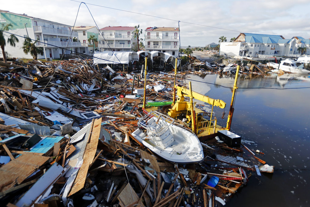 Photo: Hurricane Michael, a category 5 storm which occurred in October 2018, caused approximately US$25.1 billion in damages in the US, and more in the Caribbean and Central American regions.