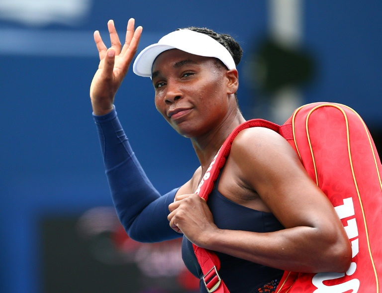 L'Américaine Venus Williams, battue au 1er tour au tournoi WTA de Toronto, le 6 août 2019