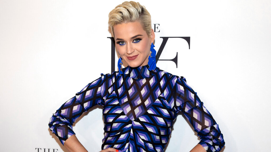 "This April 11, 2019 file photo shows Katy Perry at the 10th annual DVF Awards at the Brooklyn Museum in New York. A jury has found that Perry's 2013 hit ""Dark Horse,"" copied a 2009 Christian rap song. The nine-member federal jury in Los Angeles returned the unanimous verdict Monday, July 29, 2019. (Photo by Andy Kropa/Invision/AP, File)"