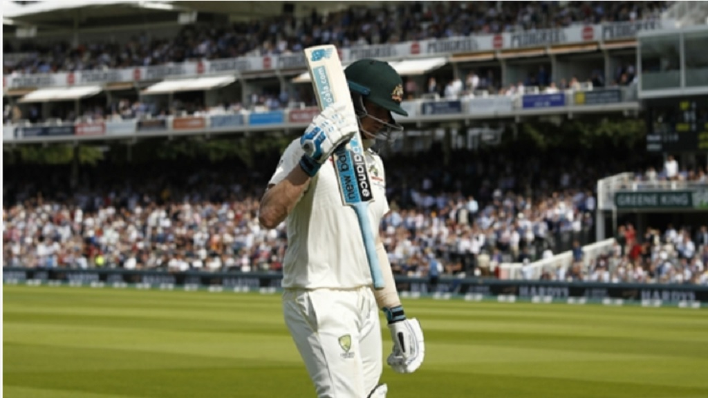 Steve Smith takes in the applause at Lord's.