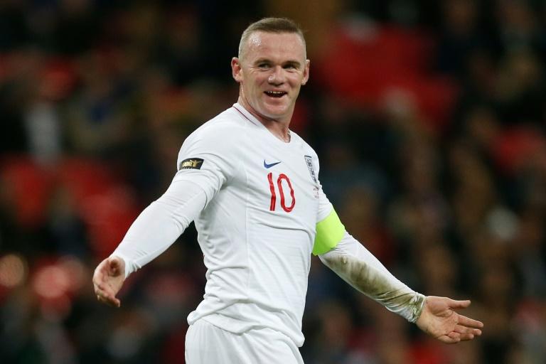 La légende Wayne Rooney, sous le maillot de l'Angleterre, le 15 novembre 2018 à Wembley