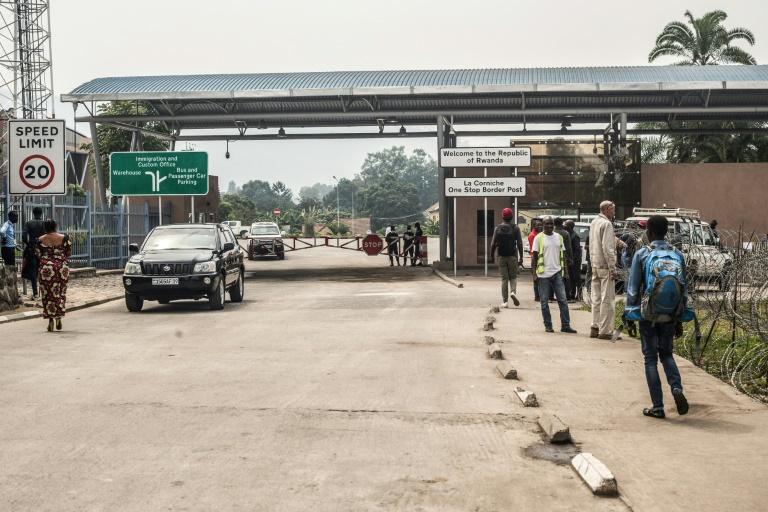 No man's land à la frontière fermée du Rwanda et de la RDC, le 1er aout 2019 à Goma.