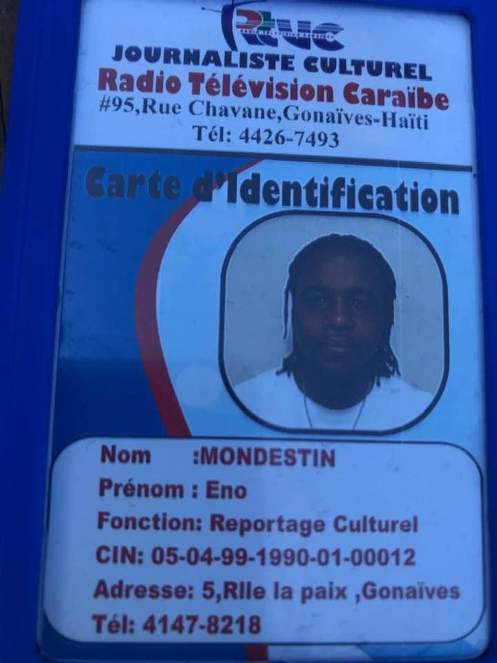 Eno Modestin, un faux journaliste haïtien circulant avec un faux badge de RTVC
