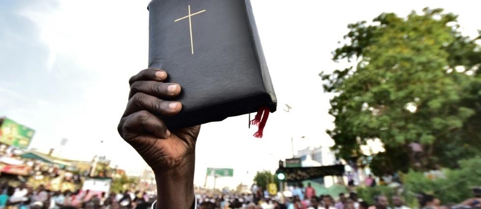 Photo d'archives de chrétiens soudanais manifestant à Khartoum, le 14 avril 2019 afp.com - Ahmed MUSTAFA
